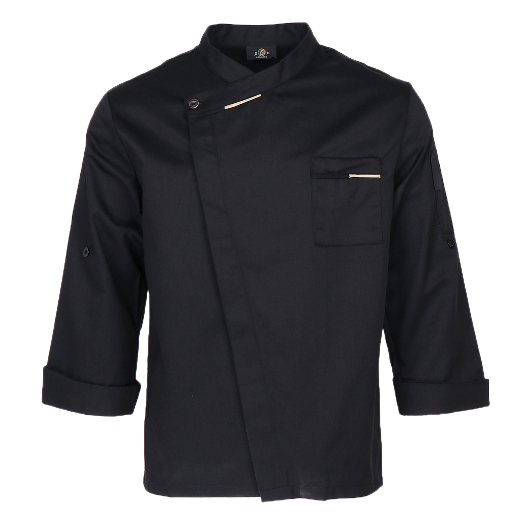 Multi Color Chef Coat Soft Long Sleeve Cook Uniform Unisex Hotel Workwear Polyester Cotton Workwear Red Blue Coffee Black White