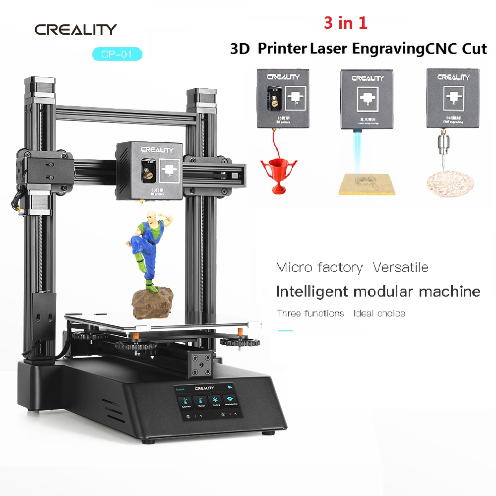 New 3 In 1 Ender Wood Router 3D Printer CNC 500mw Laser Engraving CREALITY CP-01 FDM Upgraded 3D Printing PLA ABS TPU PVA 5500mw