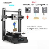 New 3 in 1 Ender Wood Router 3D Printer CNC 500mw Laser Engraving CREALITY CP 01 FDM Upgraded 3D Printing PLA ABS TPU PVA 5500mw