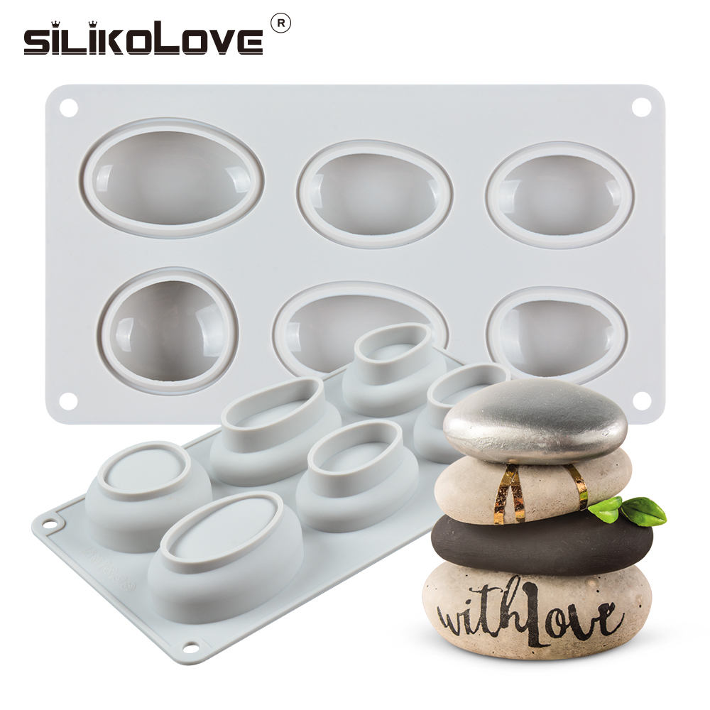 Cobblestone Candlestick Silicone Mold Concrete Flowerpot Mould Handmade Cement Candle Holder Desktop Decoration