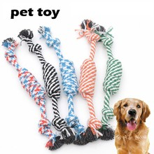 1pc Pet Dog Toy Rope Double Knot Cotton Braided Dog Rope Toy Puppy Chews Toy Cleaning Tooth Toys For Dogs Pet Supplies Drop Ship