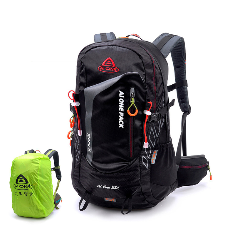 38L ultralight hiking camping backpack raincover tourist rucksack climbing bag athletes flatpack tramping pack mountain backpack