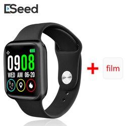 ESEED P90 smart watch mężczyźni IP68 wodoodporna w pełni dotykowy ekran obsługujący ładowania bezprzewodowego P80 P70 P68 smartwatch wersja aktualizacji w Inteligentne zegarki od Elektronika użytkowa na