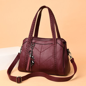 Image 2 - Soft Genuine Leather Tassels Tote Luxury Handbags Women Bags Designer Ladies Hand Shoulder Crossbody Bags for Women 2020 Sac