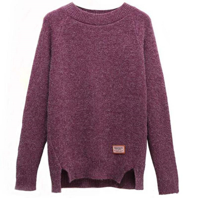 2019 Women Sweaters And Pullovers Autumn Winter Long Sleeve Pull Femme Solid Pullover Female Casual Short Knitted Sweater W1629 6