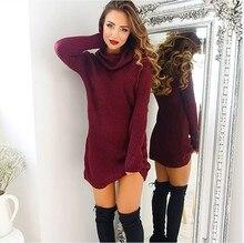 лучшая цена Women's Jumper Turtleneck Sweater Female Jumper Women Warm Sweater Long Winter Knitted Oversized Sweater Blouse HOT