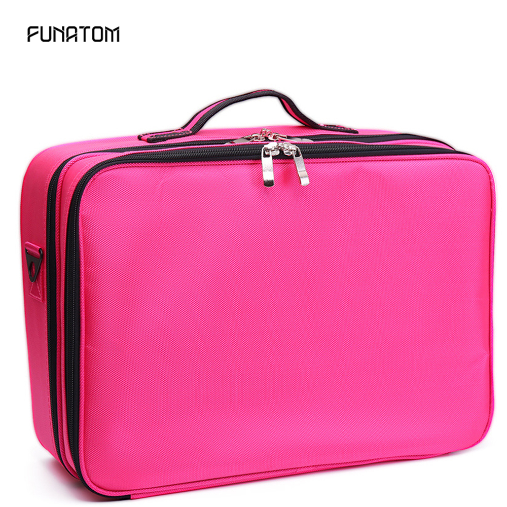2019 New Professional Large Travel Cosmetic Bag Organizer Women Travel Make Up Cases Big Capacity Cosmetics Suitcases For Makeup