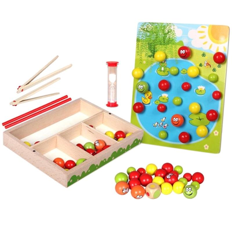 Montessori Teaching Aids Early Childhood Educational Toy Training Clip Beads Montessori Math 2-3-4-5 Year Old Boy Girl