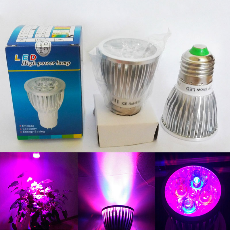 Full Spectrum <font><b>10W</b></font> <font><b>LED</b></font> Grow Light E27 <font><b>GU10</b></font> E14 110V 220V Grow Par Bulb Lamp For Seedlings Plants Growth Flowering In Grow Tent image
