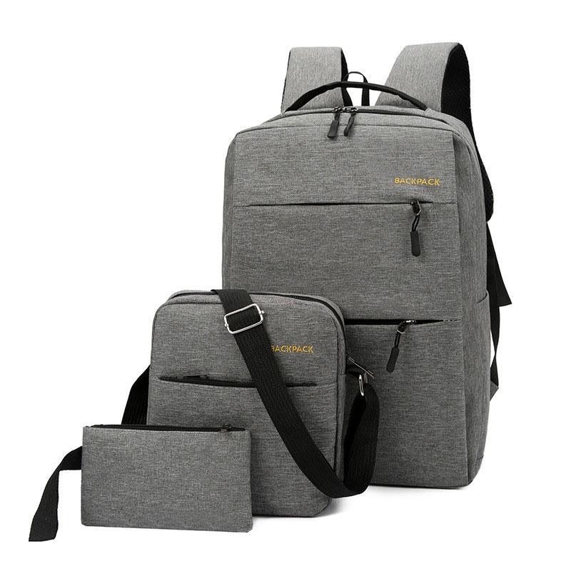 Unisex Canvas Backpack Laptop NoteBook USB Charging Student Travel School Bag