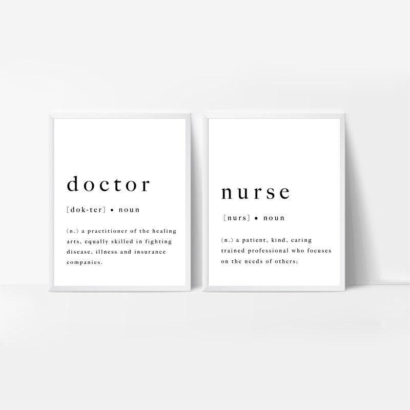 Doctor_Nurse_Definition_Wall_Art_Prints_Medical_University_Graduation_Poster_Gift_Medical_Canvas_Pai (4)