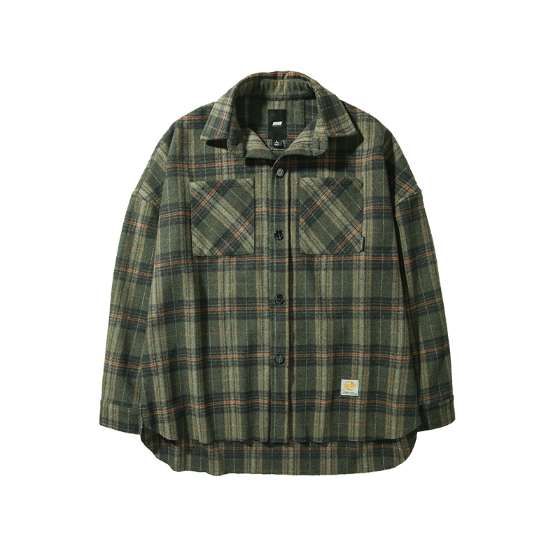 VIISHOW exquisite Cashmere coat loose wild tide brand Plaid Shirt casual large size men 39 s jacket Two pockets JC2282193 in Jackets from Men 39 s Clothing
