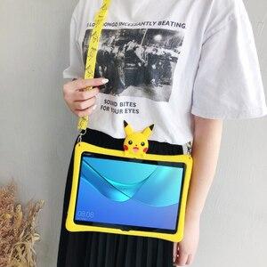 Чехол для Huawei MediaPad T5 10, чехол с мультяшным рисунком для детей, с рисунком из мультфильма, с диагональю 10,1 дюйма, чехол с силиконовым чехлом и р...