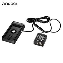 Andoer NP W126 acoplador de batería simulada con Cable de resorte soporte de placa de batería para cámaras Fuji X A1/X A2/X A3/X E1/X E2