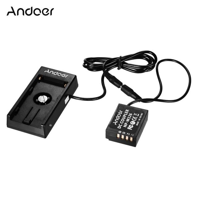 Andoer NP W126 الدمية البطارية مقرنة مع الربيع كابل لوح بطارية حامل ل فوجي كاميرات X A1/X A2/X A3/X E1/X E2/X M1