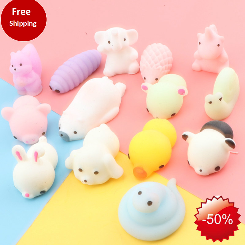 Squishy Animal Toy Squeeze Mochi Rising Antistress Abreact Ball Soft Sticky Cute Funny Gift Squishies Children