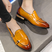 Men Loafers Shoes Mens Shoes Casual Leather Slip ons Hasp Sturdy Sole Comfortable Mans footwear Nonslip