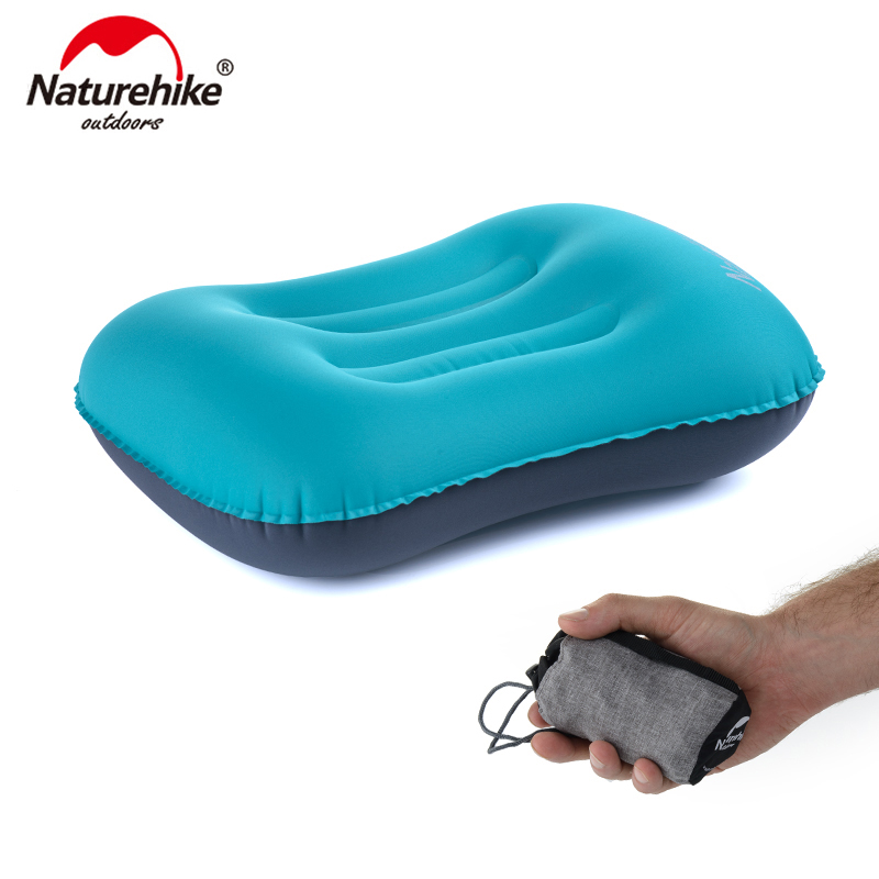 Naturehike Portable TPU Polyseter Inflatable Camping Pillow Mini Travel Air Neck Pillow For Sleeping Rest Relaxing