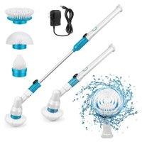 Cepillo de limpieza eléctrico giratorio, limpiador de baño inalámbrico recargable, herramienta de limpieza doméstica para cocina y baño