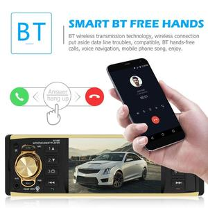 Image 4 - 4019B 4,1 zoll 1 Eine Din Auto Radio Audio Stereo AUX FM Radio Station Bluetooth Autoradio Unterstützung Rück Kamera Fernbedienung control