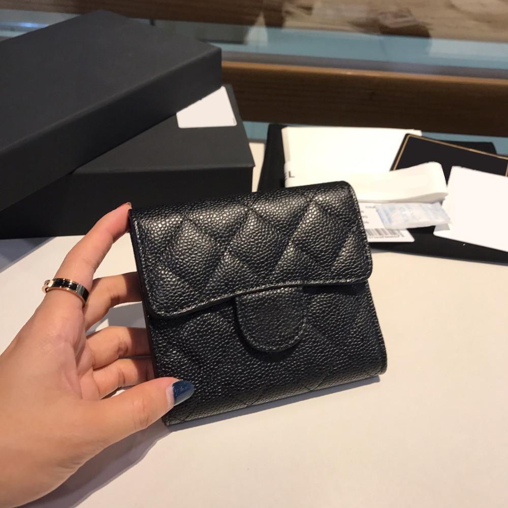 2021 new high end customized luxury women's wallet cardholder caviar leather zero wallet leisure fashion
