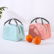 Lunch Geometric patterns Bag Insulated Thermal Cool Bags Picnic Food Drink Box Built in Aluminium Foil#25(China)