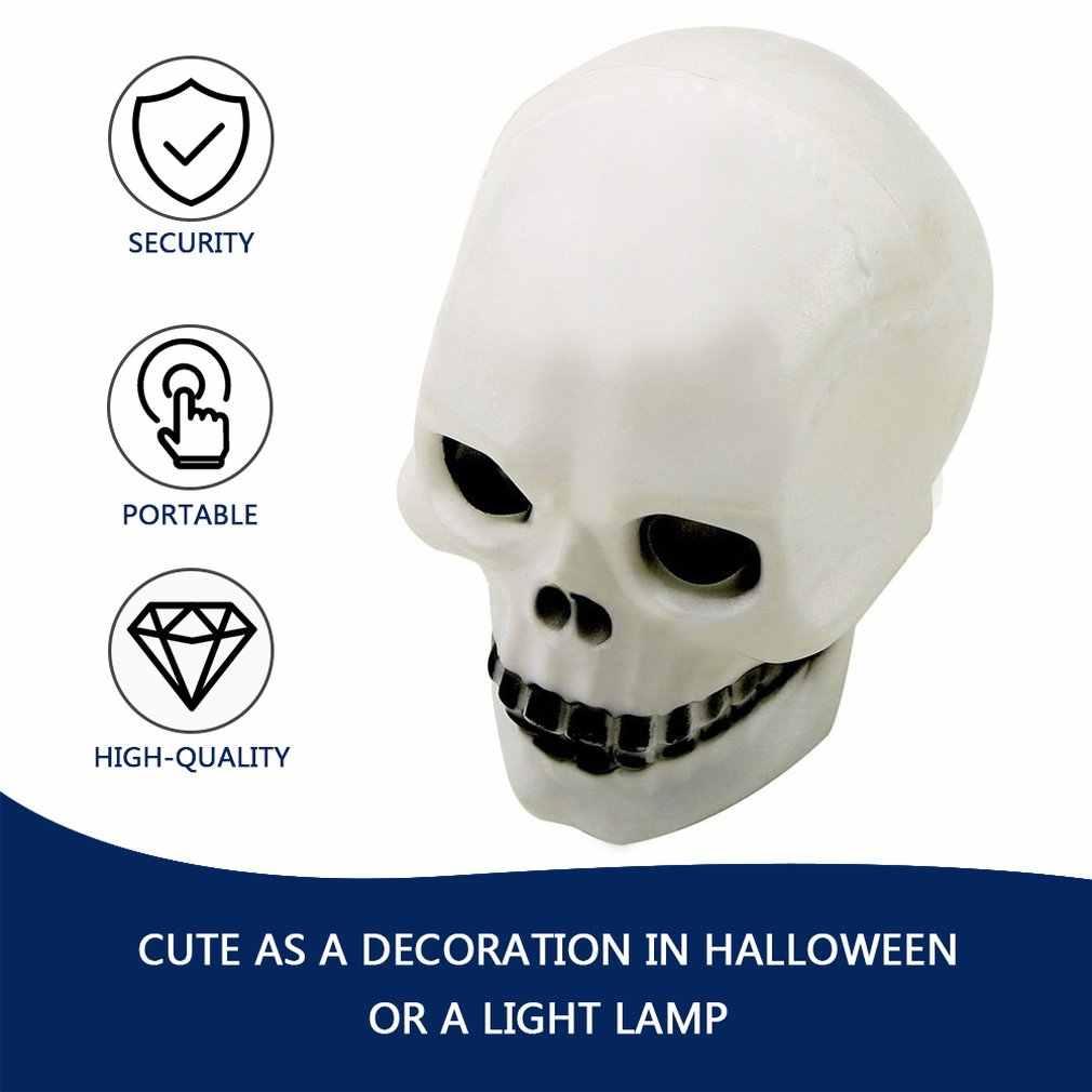 1 pc LED צבעוני פלאש גולגולת לילה אור מנורת ליל כל הקדושים המפלגה קישוט מתנת ברחבי העולם חנות