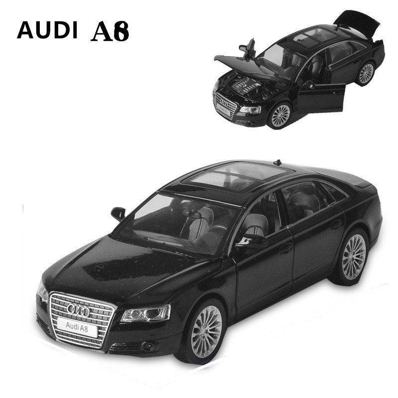New 1:32 Audi Alloy Car Model Diecasts & Toy Vehicles Classic MetaToy Cars Kid Toys For Children Gifts Boy Toy