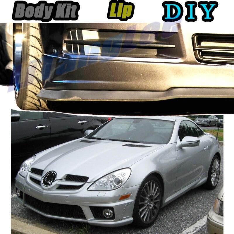 Car Bumper Lip Front Spoiler Skirt Deflector For Mercedes Benz SLK MB R170 R171 R172 Tune Car Modified Body Kit VIP Hella Flush