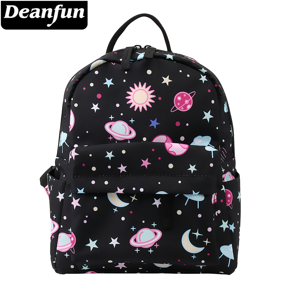 Deanfun Mini Backpack 3D Printed Black Galaxy Waterproof Small Backpack For Teenage Girls Small Bags For Women MNSB-2