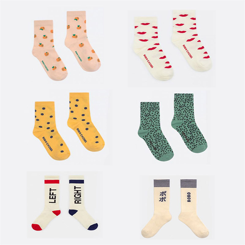 2020 New Spring Summer BC Brand Girls Socks Baby Children Kids New Fashion Print Cotton Socks