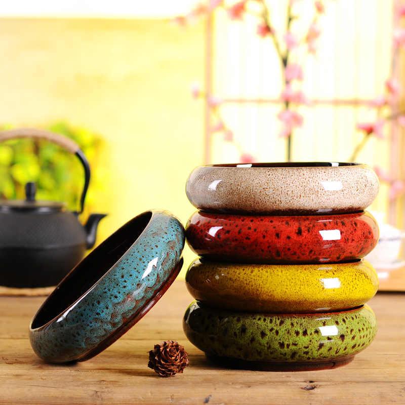 Yaratıcı uyku kase Lotus para çim topraksız bitki saksı kişilik fırın değişken etli nergis tabağı seramik saksı