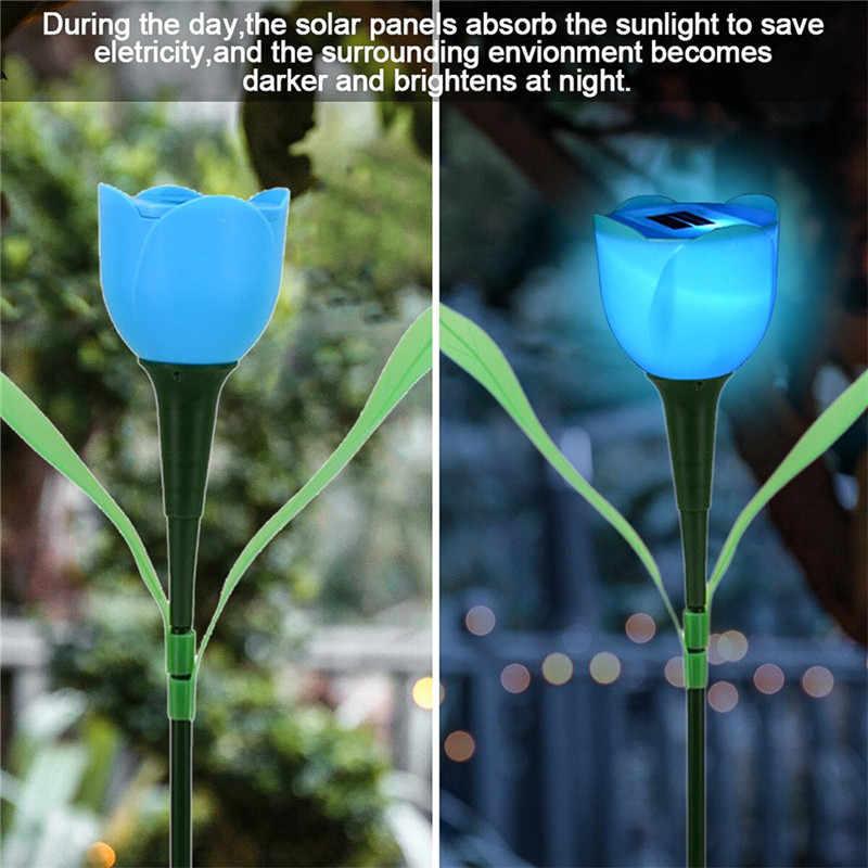 Уличный Садовый Солнечный светодиодный светильник на солнечных батареях солнечный тюльпан газон свет светодиодный тюльпан домашняя декоративная лампа для сада ночник цветок лампа