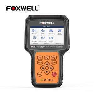 Image 1 - FOXWELL NT650 엘리트 OBD 2 자동차 도구 자동차 스캐너 코드 리더 SAS DPF 인젝터 BRT 오일 19 재설정 서비스 OBD2 진단 도구