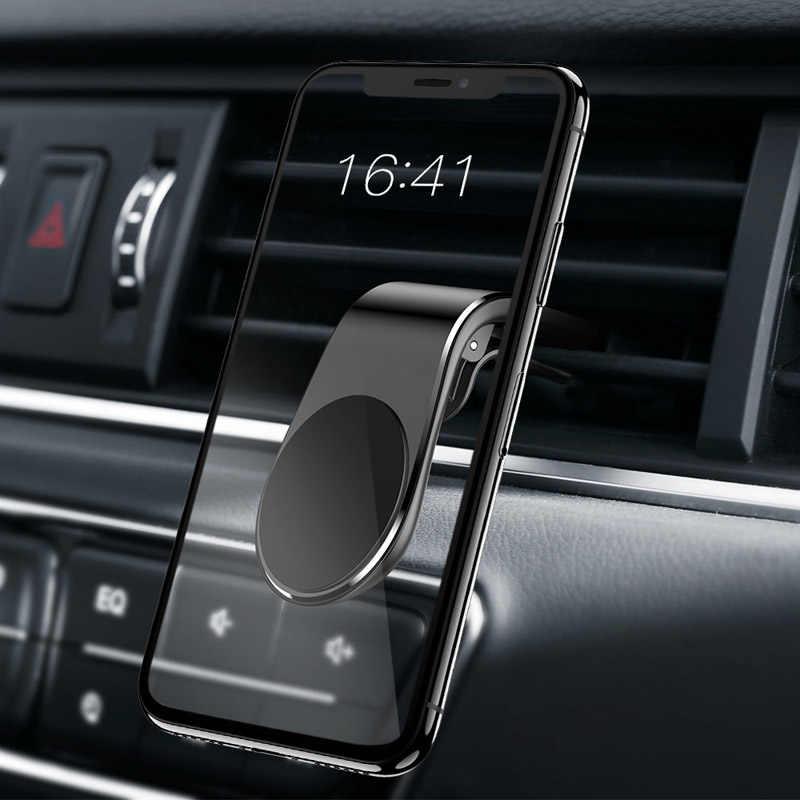 Support de téléphone magnétique pour voiture argent bleu Clip en forme de L Support de Support GPS Support de ventilation de voiture Support de téléphone portable accessoires de voiture