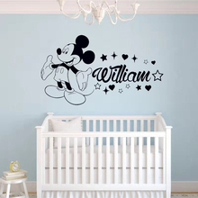 Name Stickers for Boys Room Personalized Baby Name Vinyl Wall Sticker Nursery Custom Wall Decal Bedroom Kids Room Decorate princess cartoon custom name girsl bedroom decoration beauty girls with name wall sticker interior nursery ornament sticker w266