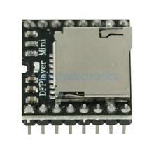Placa de módulo de reprodutor de mp3, dfplayer mini mp3 df, placa de código de voz para arduino com suporte para cartão tf u disk io/porta de serial/ad