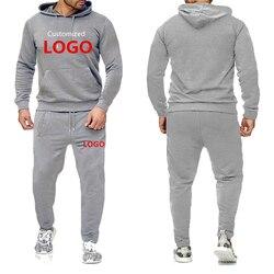 OIMG мужские комплекты из 2 предметов, толстовка с надписью «сделай сам», повседневные Модные худи и спортивные штаны, спортивный костюм с при...