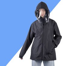 2020 New Men Women Hooded Isolation Protective Clothing One Time Disposable Dust-proofAnti Droplet Solid Color Coat outdoor A12(China)