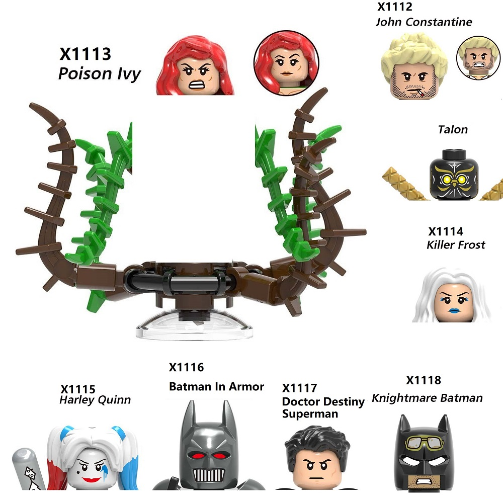 Knightmare Batman In Armatura Talon Veleno Ivy Costantino Killer Gelo Medico Destiny Superman Block Mini Action Figure MiniFigure