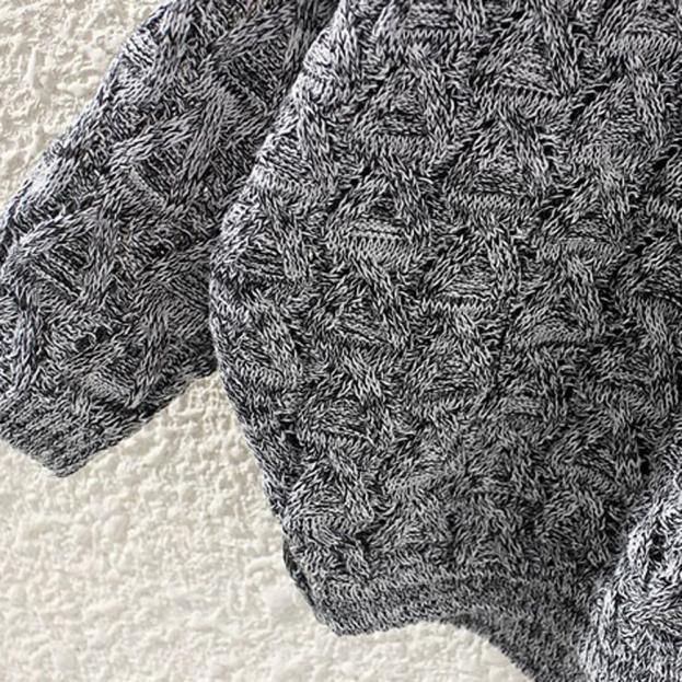 Women's Hollow Out Bat Long Sleeve Loose V Collar Sweater jersey mujer свитер женский new sweater for women 2019 джемпер женский 4