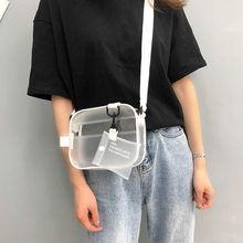 Women Summer Casual PVC Transparent Clear Fashion Crossbody Bags Shoulder Bag Handbag Jelly Small Phone Bags with Card Holder