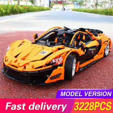 Technic Series Bricks The MOC-16915 McLaren P1 Orange Super Racing Car Building Blocks Hypercar Model Toys For Children 20087