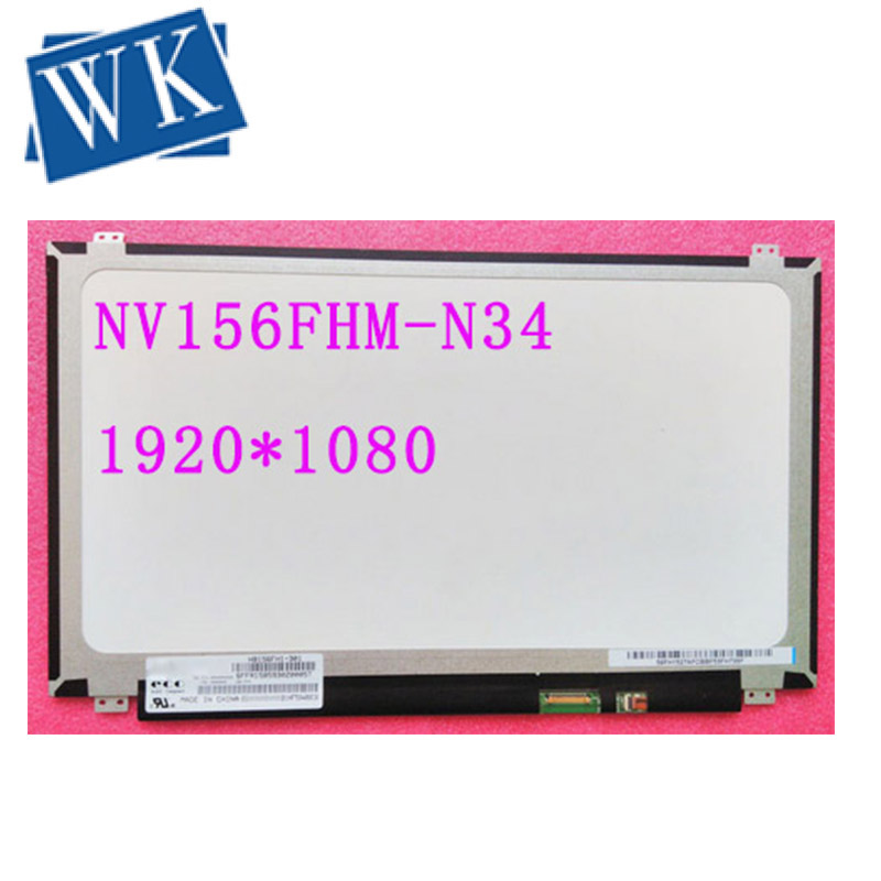 "IPS LCD Screen For BOE NV156FHM-N34 NV156FHM N34 Matrix for Laptop 15.6"" FHD 1080P Glare Replacement"