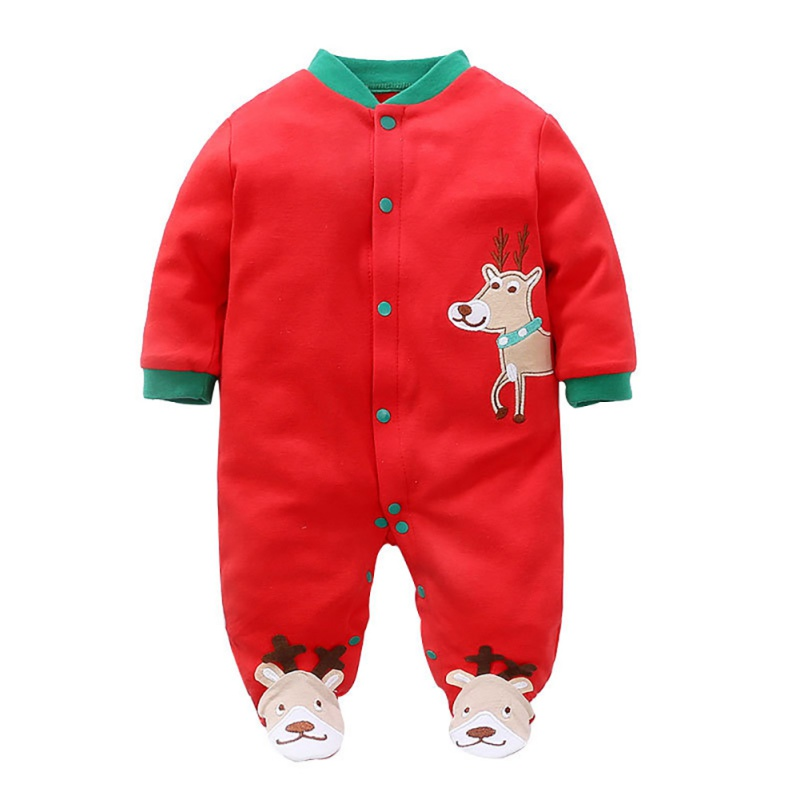 Christmas Baby Jumpsuits Long Sleeve Cartoon Printing   Rompers   Kids Toddler Clothes