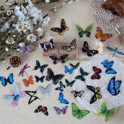 40 sztuk Vintage Dream naklejki motyle Kawaii biurowe DIY Scrapbooking dekoracje etykieta uszczelniająca kubek zawieszka na prezent naklejki płatki