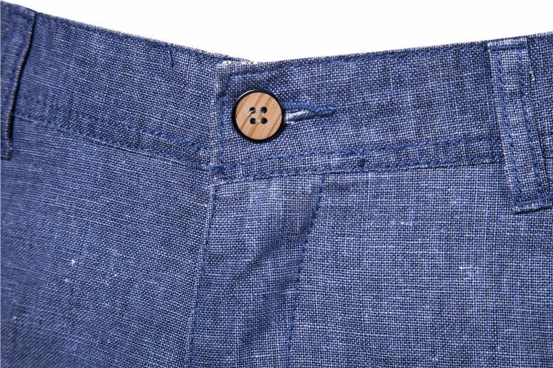 2020 חדש קיץ 100% כותנה פשתן מכנסיים קצרים גברים באיכות הברך אורך מקרית Mens מכנסיים קצרים לנשימה מגניב מרגיש קצר גברים