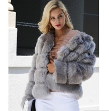 Fur coat womens fur new 2019 fox imitation short long-sleeved artificial