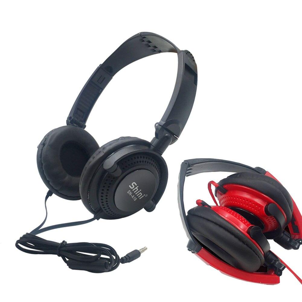 3.5mm Wired Earphone Headset PC Gamer Stereo Folded Headphone For Computer Mobile Phone Children Gift