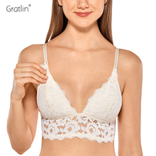 GRATLIN Breastfeeding Maternity Nursing Bras Lace Pregnant Women Underwear Breast Feeding Bra